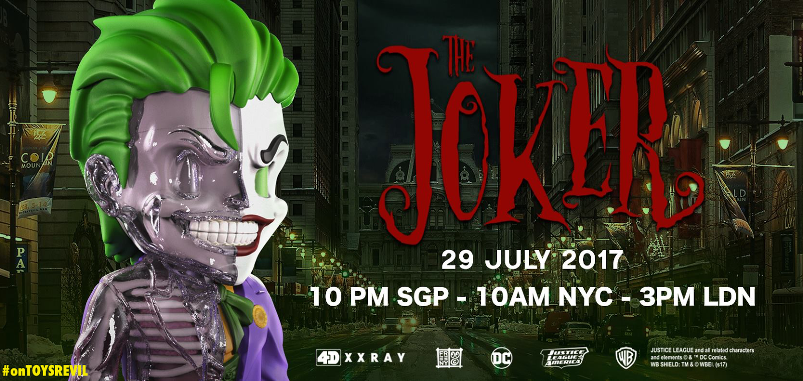 4D XXRAY THE JOKER by Jason Freeny x Mighty Jaxx for July 29th Pre ...