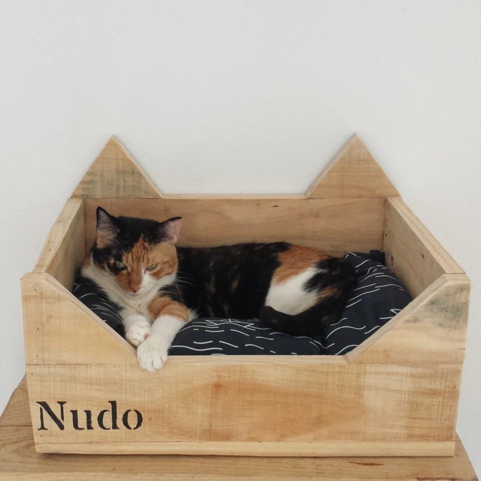 Mibarquitodepalet cama personalizada para gatos - Camas para gatos ...
