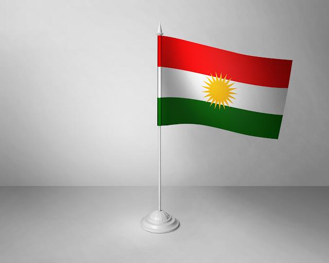 Desk flag (s) of Kurdistan