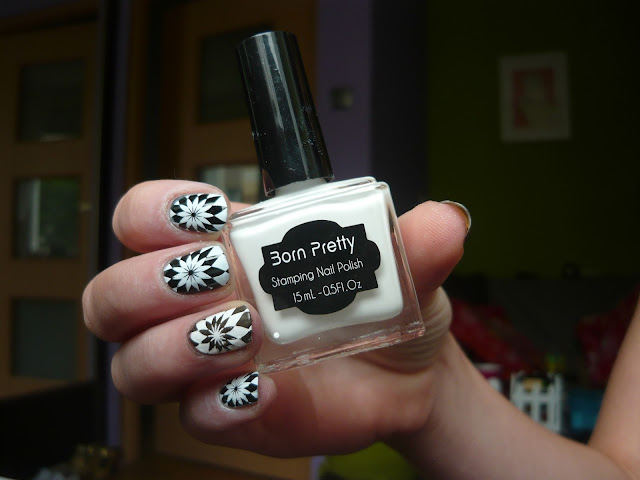 Stamping plate BP- L008 and stamping nail polish (Born Pretty Store)