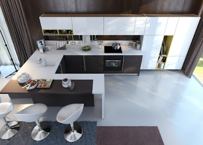 awesome U kitchen planning with two parallel fronts