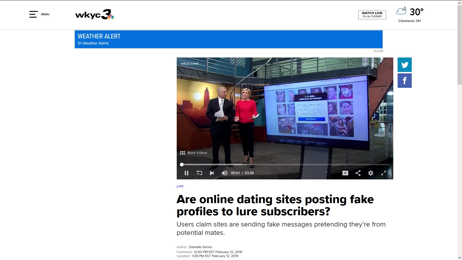 articles about online dating sites