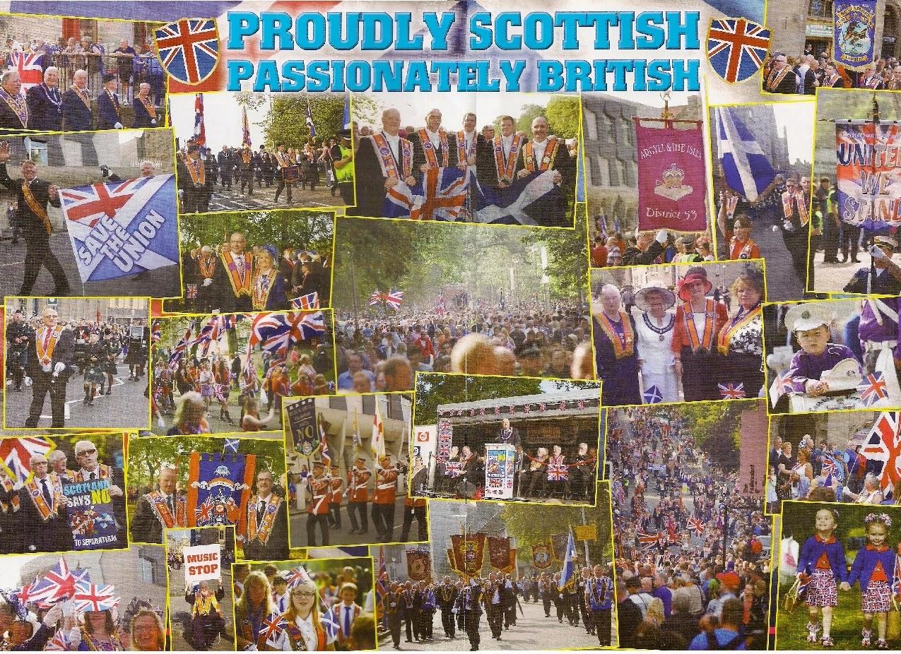 20,000 Orangemen women & supporters huge Edinburgh rally on Saturdy 13th September 2014