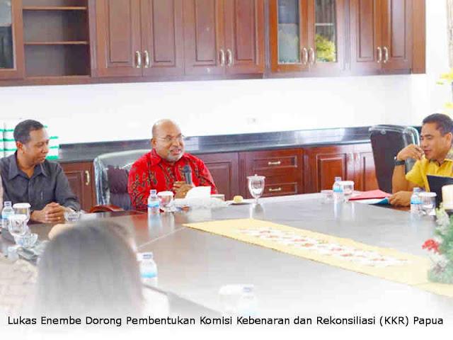 Lukas Enembe Dorong Pembentukan Komisi Kebenaran dan Rekonsiliasi (KKR) Papua