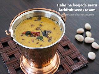 Halasina beejada saaru recipe in Kannada