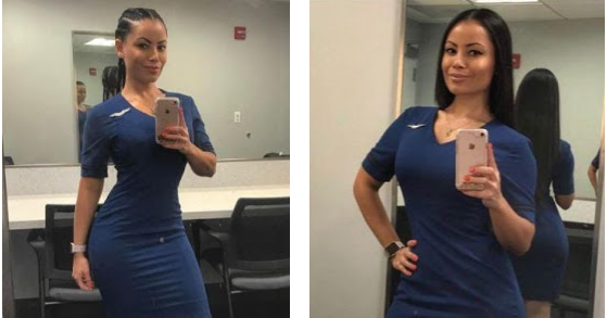 Check Out Photos Of This Sexy Airline Worker Nicknamed
