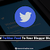 How To Add Twitter Feed To Your Blogger Blogs?