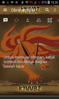 BBM Mod Kyubi Kurama v3.1.0.13 Apk Clone Terbaru