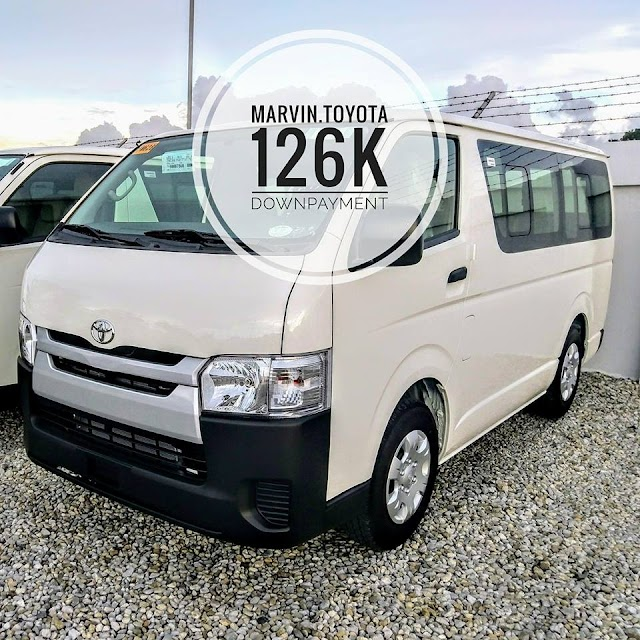 2018 Hiace Commuter as low as 126K Downpayment All-in!