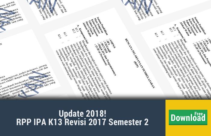 rpp ipa kelas 7 kurikulum 2013 revisi 2017 semester 2
