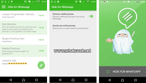 Chatea de manera oculta con Hide For Whatsapp