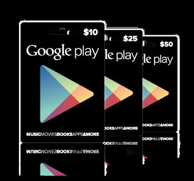 Cara Dapat Kode Google Play Gift Card Gratis