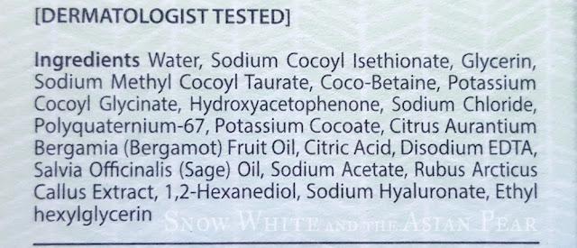 Make Prem Safe Me Relief Moisture low pH foam cleanser ingredients