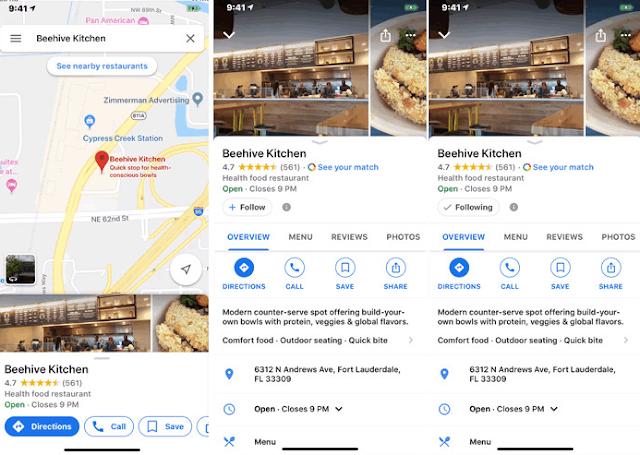 جوجل تطرح تحديث لخدمة الخرائط على iOS يجلب زر Follow