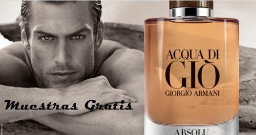 muestra gratis perfume giorgio armani