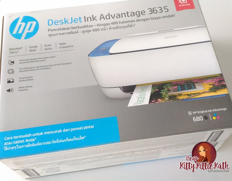 Feature Hp Desk Jet Ink Advantage 3635 All In One Printer