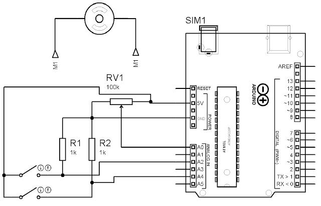 Esquema potenciometro com memória em Arduino