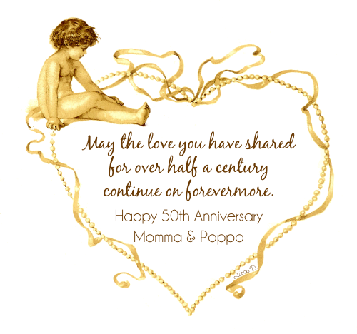 50th Wedding Anniversary Quotes: Décosse's Dynamite Doodles: Happy 50th Anniversary Momma