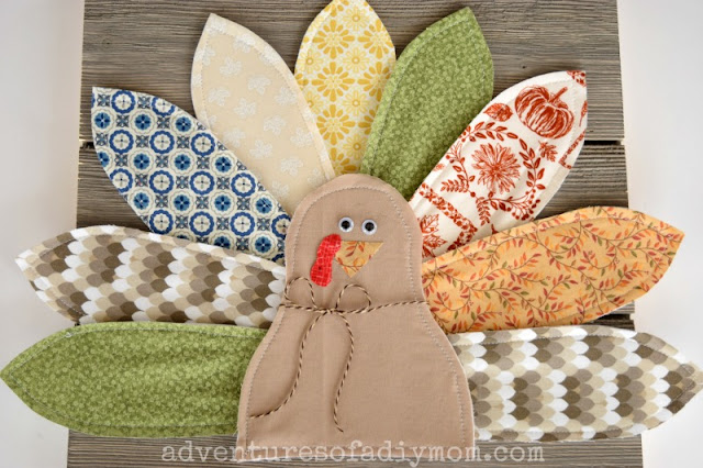DIY Thanksgiving Home Decor - Fabric Turkey Craft