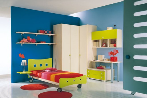 gambar desain kamar tidur lucu beraneka warna