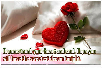 Romantic Good Night Love Quotes: dream touch your heart, and soul, hope you, will have the sweetest dream right.
