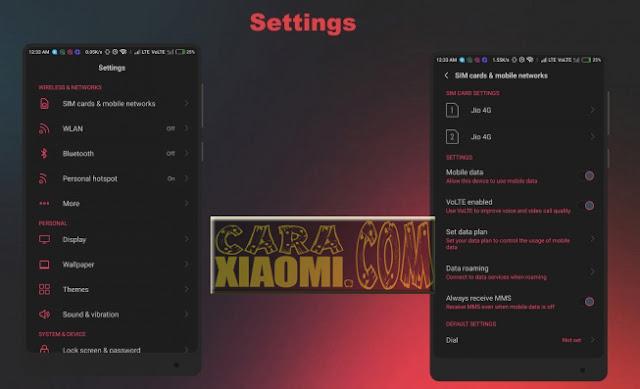 Link Download Thema Xiaomi MIUI RedMix Light Mtz [25+ Dark Themed Apps][MIUI8/9] Update