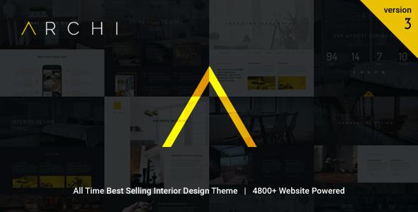 Archi v3.9.2 - Interior Design WordPress Theme