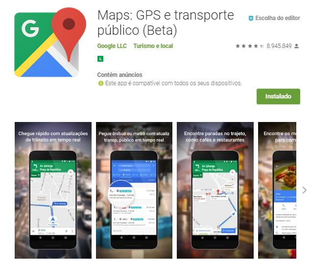 Goog Maps - aplicativo