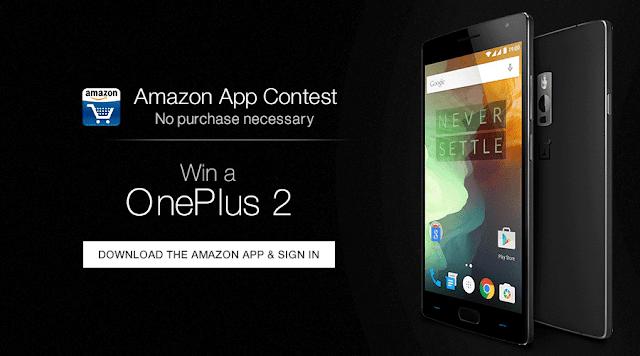 Win a OnePlus2 Mobile : Amazon App Contest_frickspanel