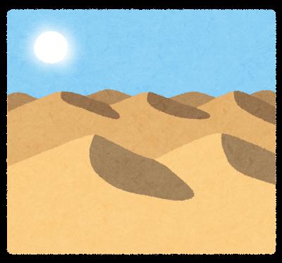 砂漠のイラスト