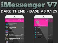 BBM MOD IMESSENGER V7 DARK THEME - BASE OFFICIAL V.3..0.1.25 Terbaru