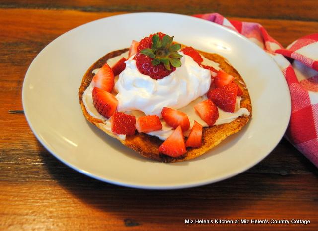 Strawberry Dessert Chalupa at Miz Helen's Country Cottage