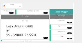 easy admin panel for blog news template