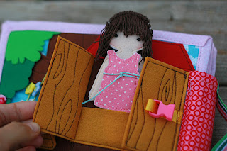 Dollhouse for Emmy, fabric quiet book for girl by TomToy