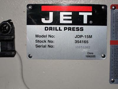 Jet JDP-15M perceuse à colonne