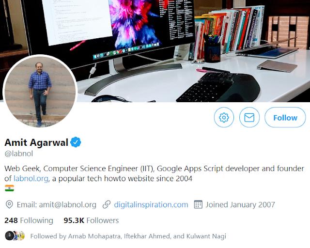 Amit Agarwal Twitter