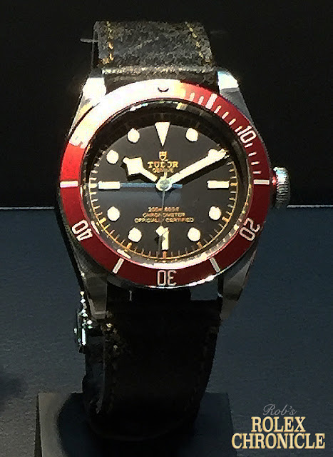 photo of Tudor Heritage Black Bay with Burgundy Disc and Aged Leather Strap