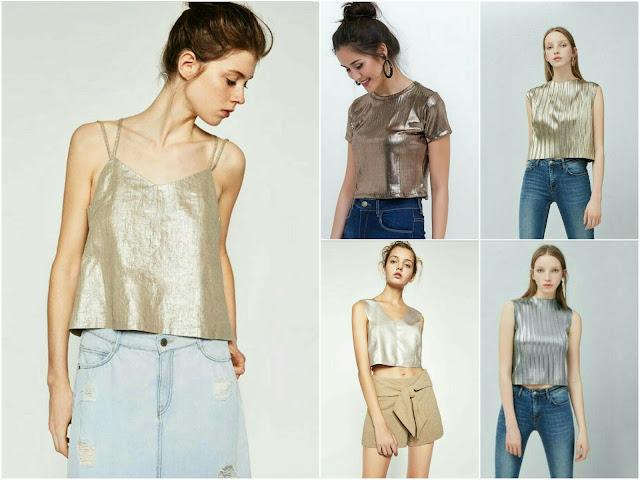 Resultado de imagem para blusas metalizadas