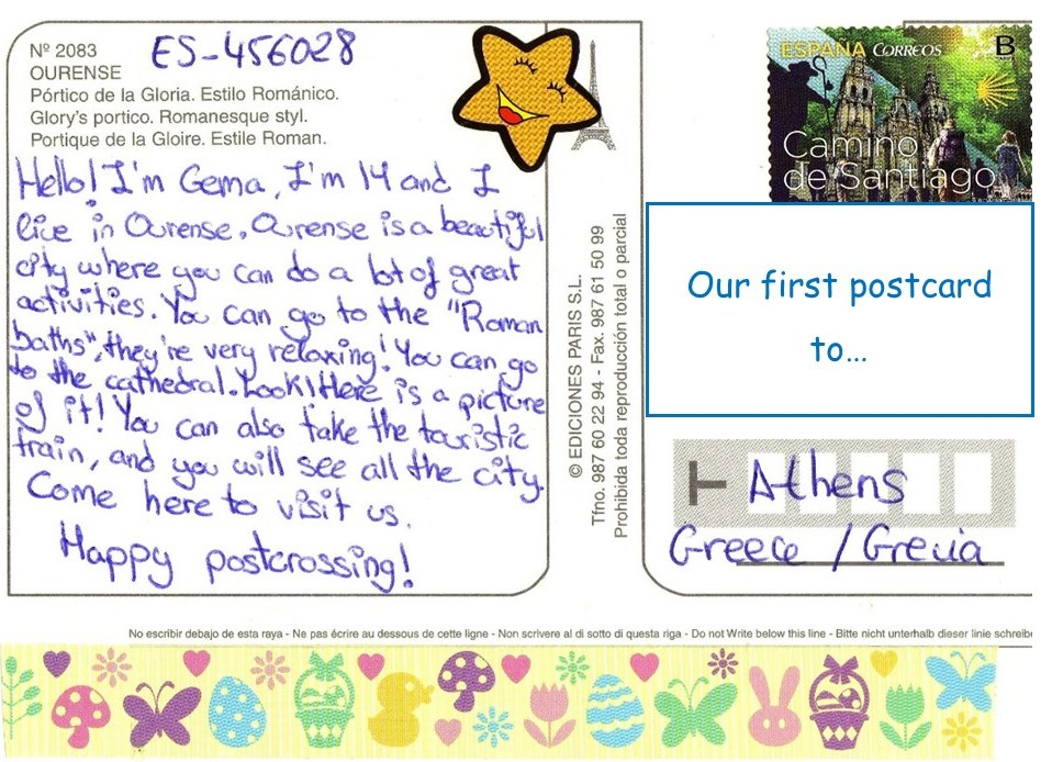 From Ourense to the World: Postcrossing at Padre Feijoo ...