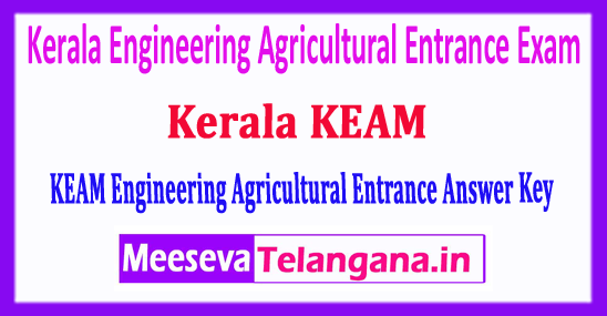 KEAM 2018 Answer Key Kerala Engineering Agricultural Medical Answer Key 2018 Download