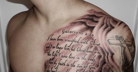 Desain Tato Tulisan Di Dada Tatto Simple