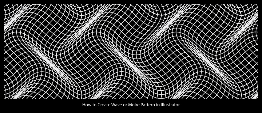 How To Create Wave Or Moire Pattern In Illustrator Awesome Illustrator Pattern