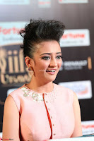 Akshara Haasan in Peachy Crop Top Choli Skirt at IIFA Utsavam Awards 45.JPG