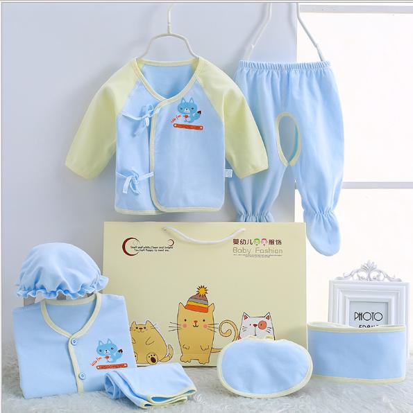 Bộ quần áo cho trẻ sơ sinh 7 miếng 2020
