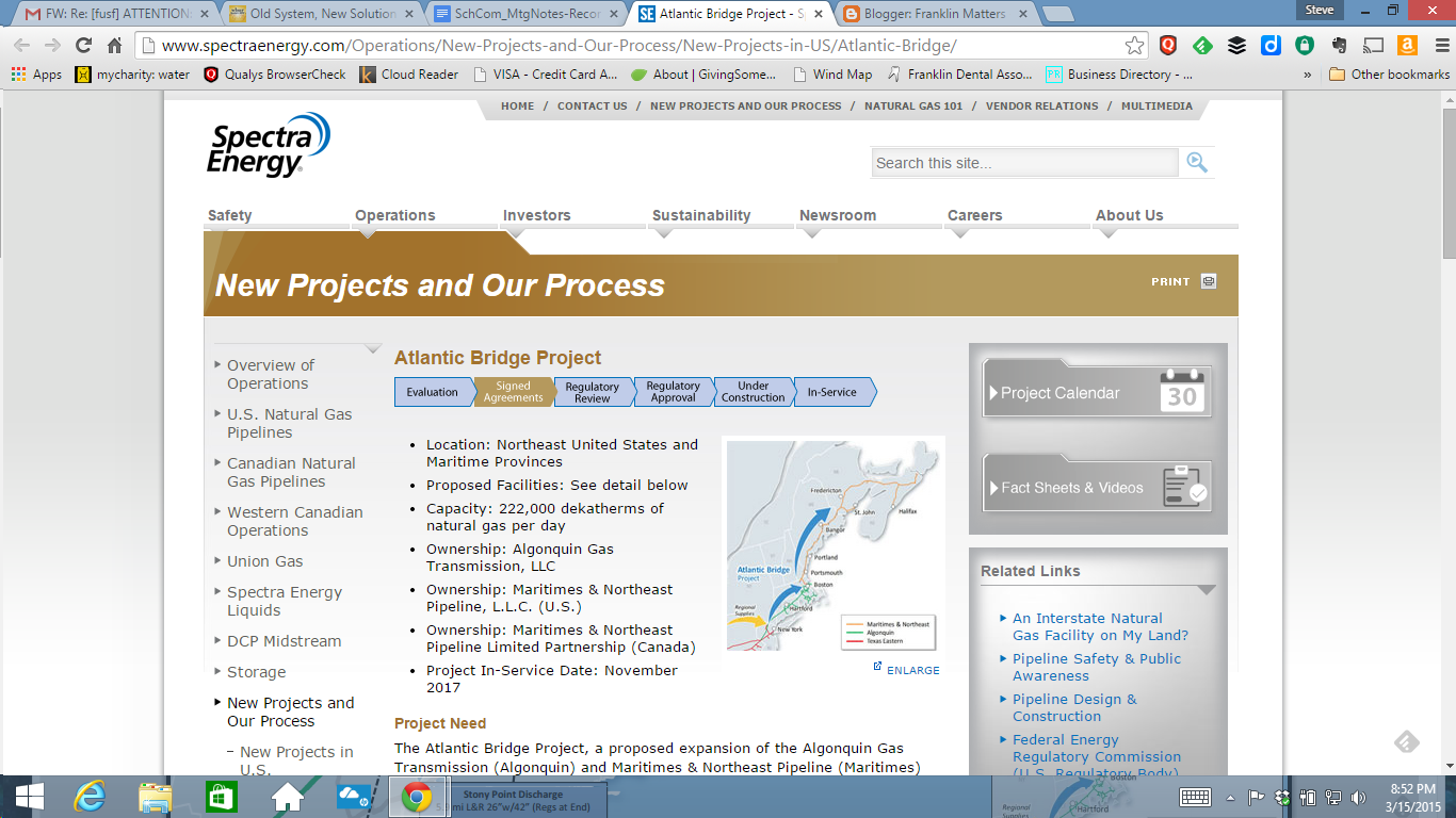 screen grab of Atlantic Bridge project webpage