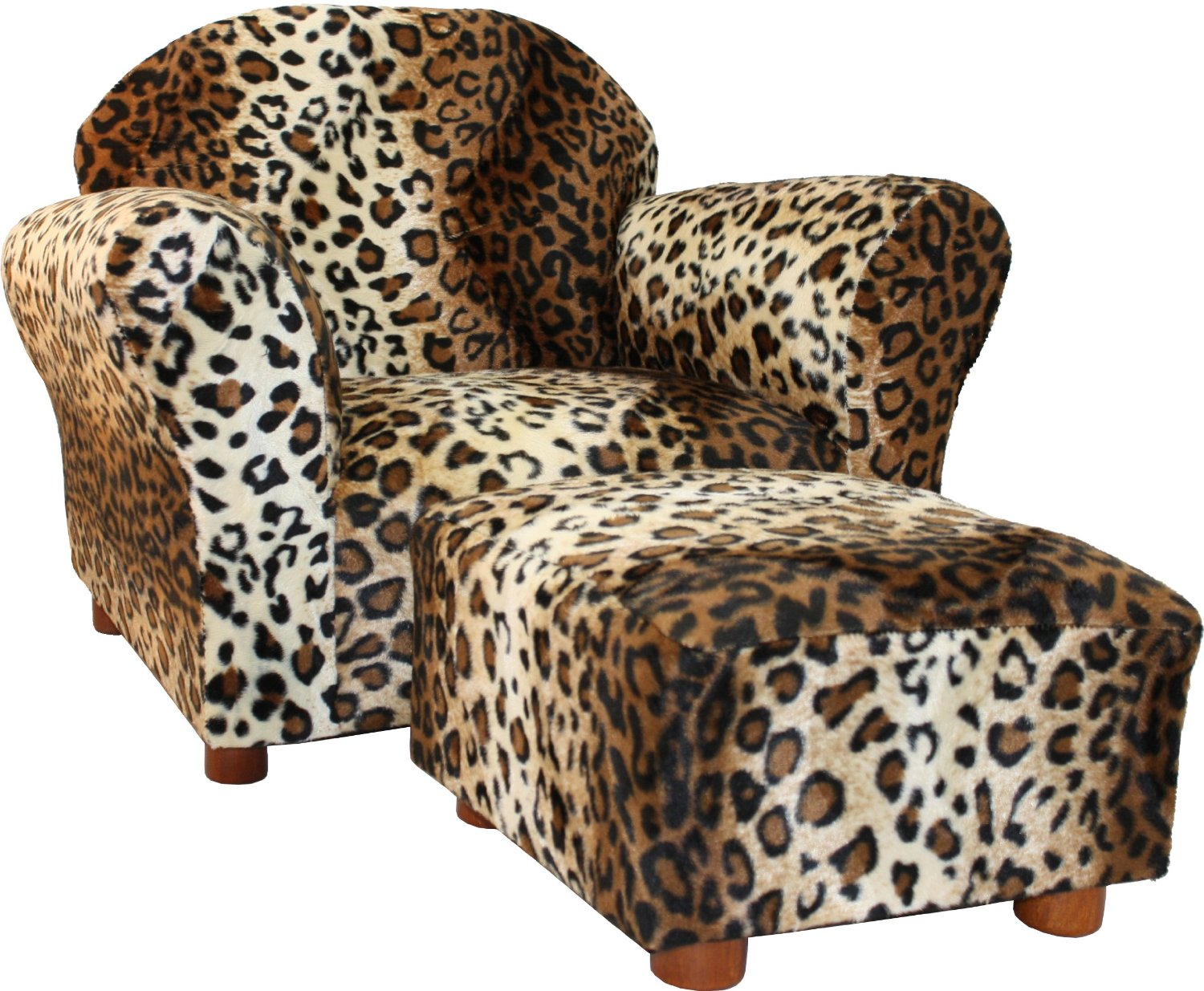 Giraffe Print Chair Baby Food Total Fab Kids 39 And Toddler Ottoman Sets