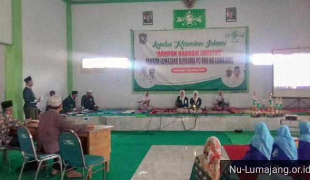 Lomba Kesenian Islami 'Rampak Nadhom Imrithy' yang digelar di Gedung Nahdlatul Ulama