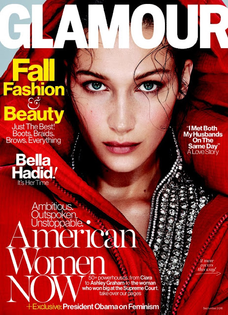 Fashion Model, @ Bella Hadid - Glamour Magazine September 2016
