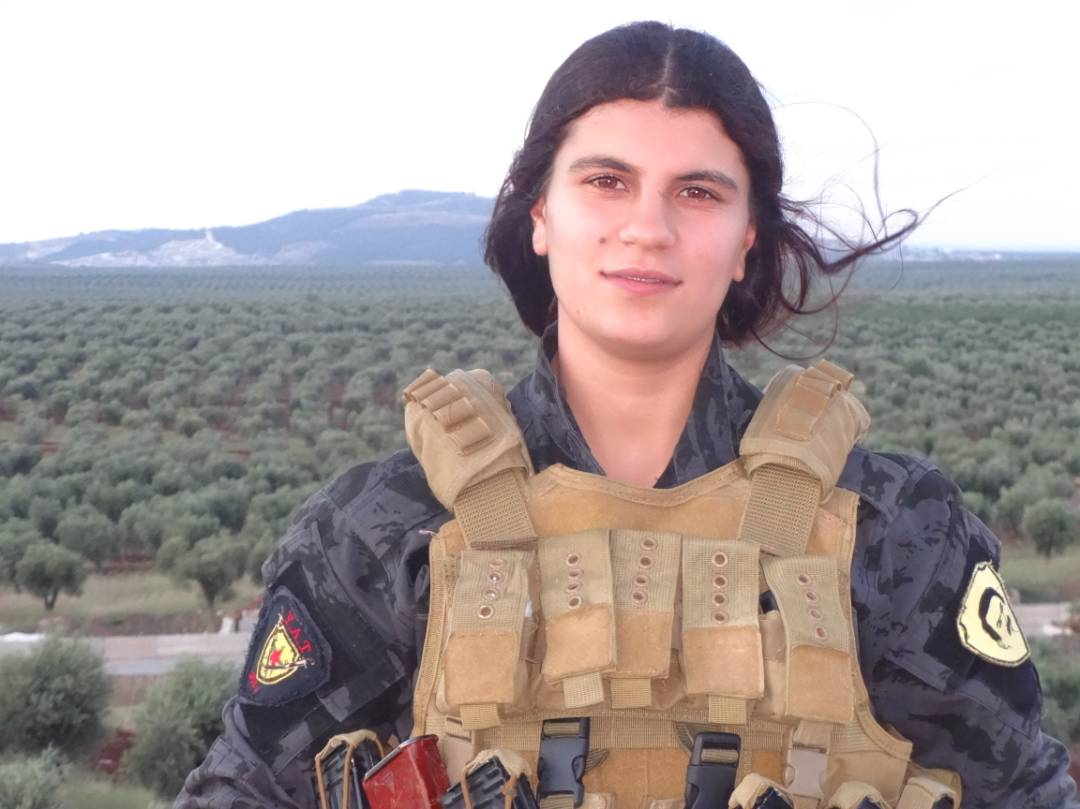 Ypj Fighter Avesta Khaboor S Herself Up And Destroys A Turkish Tank In Jandaris District Afrin January 28 2018 Pic Twitter Rnuqigbe9x