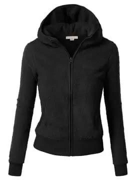 Special Fabric Zipper Slim Women's Hoodie